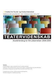 TEATERVIDENSKAB - Institut for Kunst- og Kulturvidenskab ...
