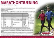 Marathontræning - Løberen