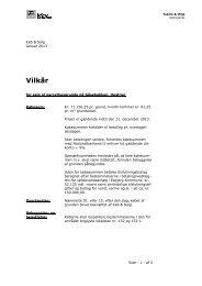Salgsvilkår. KLIK HER - Esbjerg Kommune