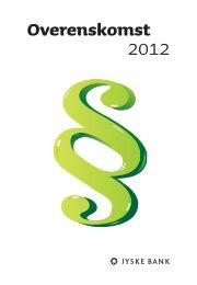 Overenskomst 2012 - Jyske Bank