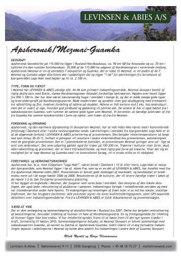 Apsheronsk/Mesmai - Levinsen & Abies
