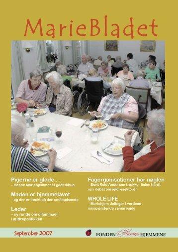 September 2007 Fagorganisationer har nøglen ... - Mariehjemmene