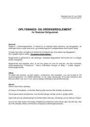 OPLYSNINGS- OG ORDENSREGLEMENT - Skælskør Boligselskab