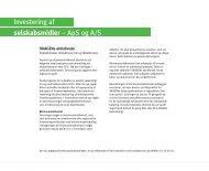 Investering af selskabsmidler – ApS og A/S - SKAGEN Fondene