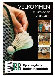 VELKOMMEN - Bjerringbro Badmintonklub