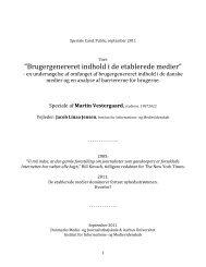 Martin Vestergaard-speciale-UGC-nov2011 - medier og journalistik