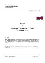 Dagsorden og referat, 27. februar 2012 - Region Midtjylland