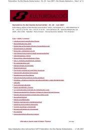 Side 1 af 11 Nyhedsbrev fra Det Danske Kulturinstitut - Nr. 20 - Juni ...