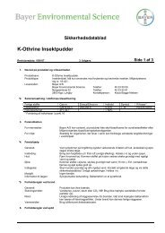 Sikkerhedsdatablad K-Othrine Insektpudder - Bayer Pestcontrol Expert