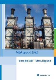 Miljörapport 2012 - Borealis