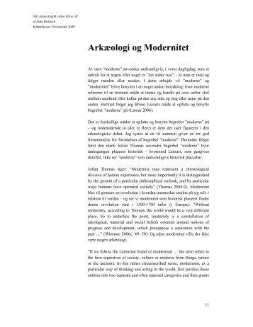 Arkæologi og Modernitet - Jette Rostock