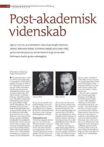 Post-akademisk videnskab - Mikkel Willum Johansen