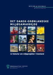 DET DANSK-GRØNLANDSKE MILJØSAMARBEJDE - Miljøstyrelsen