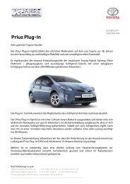 Kundeninfo Prius Plug In - Toyota Feichtmayr
