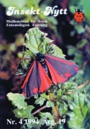 Norsl- 'orening - Norsk entomologisk forening