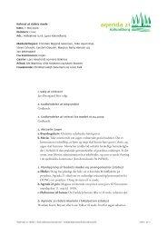 Referat 7. maj 2009 PDF 108 kB - Agenda 21 Kalundborg