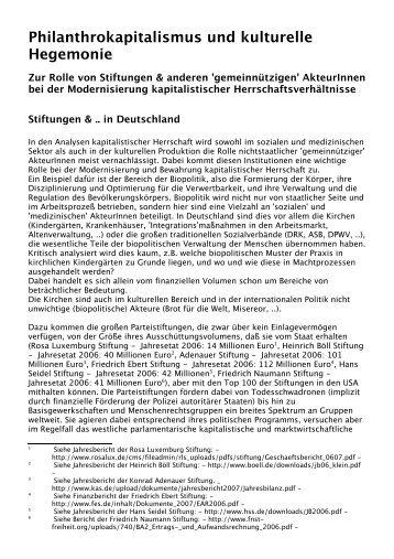 Philanthrokapitalismus und kulturelle Hegemonie - irrliche.org