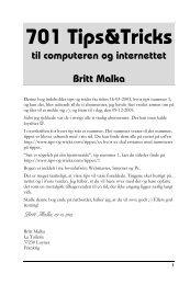 701 Tips&Tricks til computeren og internettet Britt Malka - Tips | Tricks