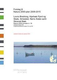 Forslag til Natura 2000-plan 2009-2015 Lovns ... - Fjordvenner