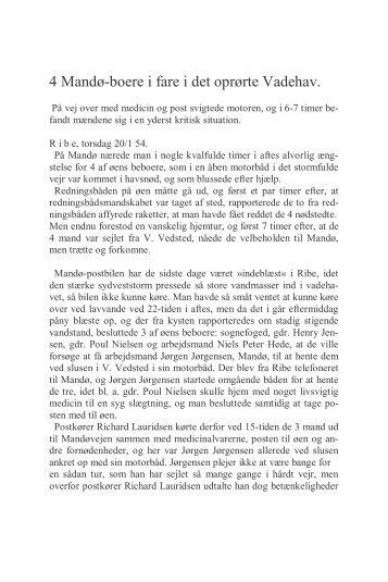 4 Mandø-boere i fare i det oprørte Vadehav.