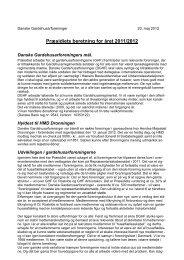 Præsidiets årsberetning 2011/2012 - Danske Gardehusarforeninger
