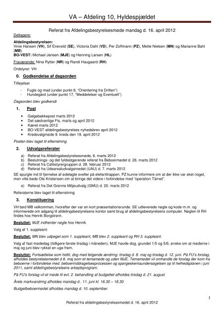 Referat 16. april 2012 - Hyldenet