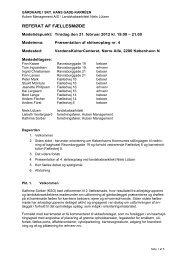 Referat fra fællesmøde den 21. feb. 2012