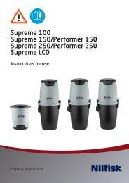 Manual til Supreme 100, 150, 250 og LCD samt ... - Nilfisk-Frithiof