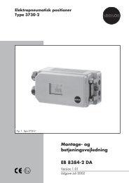 Montage- og betjeningsvejledning EB 8384-2 DA - Samson