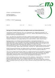 Høring over forslag til ændring af næringsbrevsloven og ... - ITD