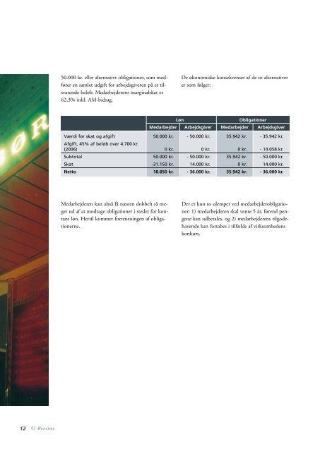 Skatteinformation om aktieaflønning 2006