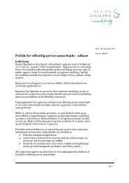 Politik for offentlig-privat samarbejde - udkast - Region Sjælland