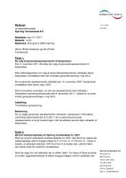 Referat fra bestyrelsesmøde d. 3. november 2011. - Hjørring ...