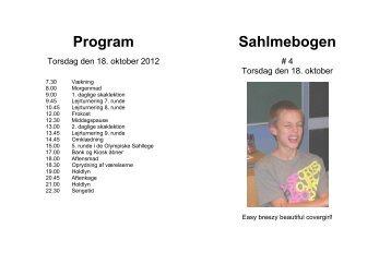 Program Sahlmebogen - Aarhus Skoleskak