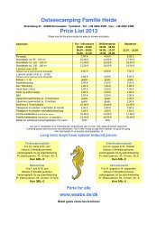 Ostseecamping Familie Heide Price List 2013 - Campingplatz ...