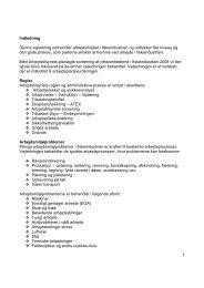 1 Indledning Denne vejledning omhandler arbejdsmiljøet i ... - Alcedo