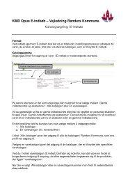 KMD Opus E-indkøb – Vejledning Randers Kommune.