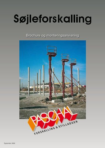 Søjle brochure og montageanvisning - PASCHAL-Danmark A/S