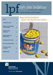 LPF-nyt om ledelse, Maj 2007 - CBS