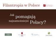 Filantropia w Polsce - Fundacja dla Polski