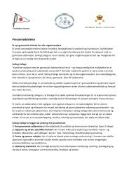 Pressemeddelelse - Kongelig Dansk Yachtklub