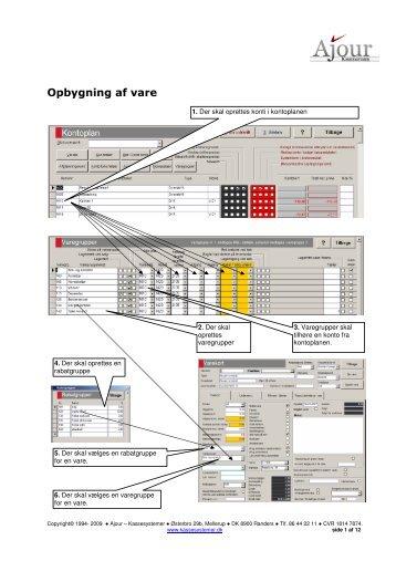 Opret vare-multi-funktion-afgift-gebyr-umenu-varegrupper
