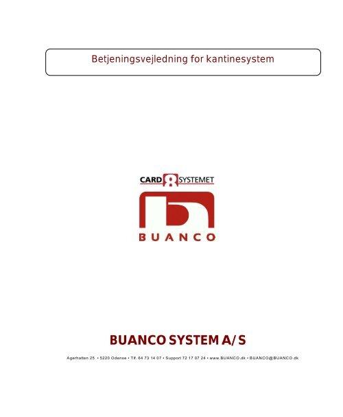 C8Kantine. Vejledning i kantinesystemer. Fylder 2,3 KB - BUANCO