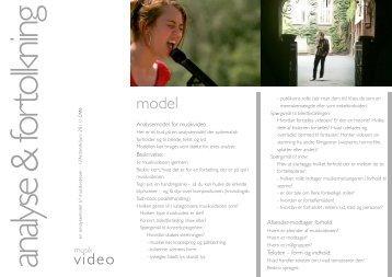 Analysemodel for musikvideo Beskrivelse: Afsender-modtager ...