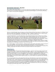 Baneudvalget informerer - Maj 2012 - Odense Golfklub