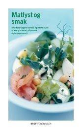 Matlyst og smak - kostråd for kreftpasienter - Kreftforeningen