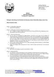 2012.08.10 Referat KOR bestyrelsesmøde den 9 ... - Kolding Rideklub