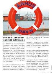 Mere end 12 millioner tons gods over kajerne - Århus Havn