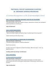 Protokoll - 36. Generalforsamling - Det Akademiske ... - Kvarteret