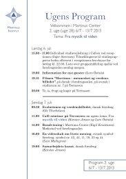 Program for 2. uge 6/7 - Martinus Institut